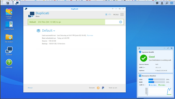 How to install Duplicati on Synology - Installation - Duplicati