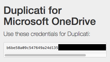 Setting up OneDrive (personal) - How-To - Duplicati
