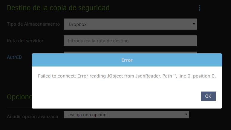 Dropbox OAuth failed - Support - Duplicati