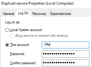 windows local system account
