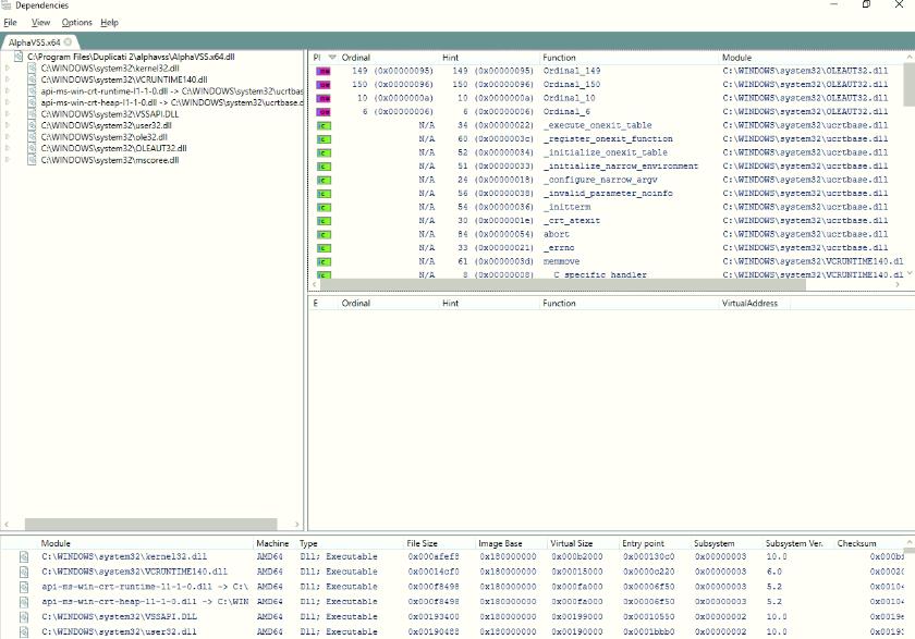 Alphevss x64 dll - Support - Duplicati