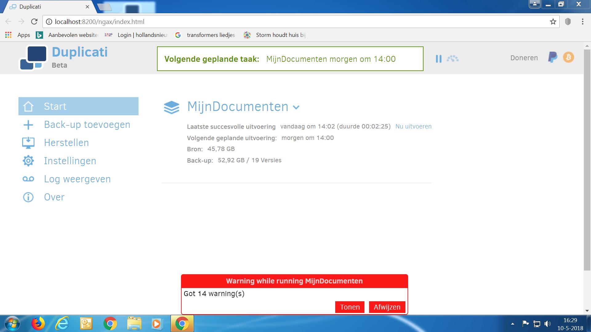 Invalid Win32 FileTime - Duplicati