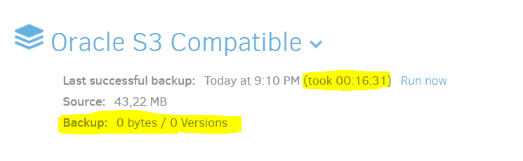 Can't Connect to Oracle Cloud - Support - Duplicati