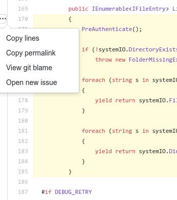 GitHub permalink